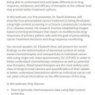 Nature Webinar – Understanding cancer drug responses, efficacy and resistance using high-content screening